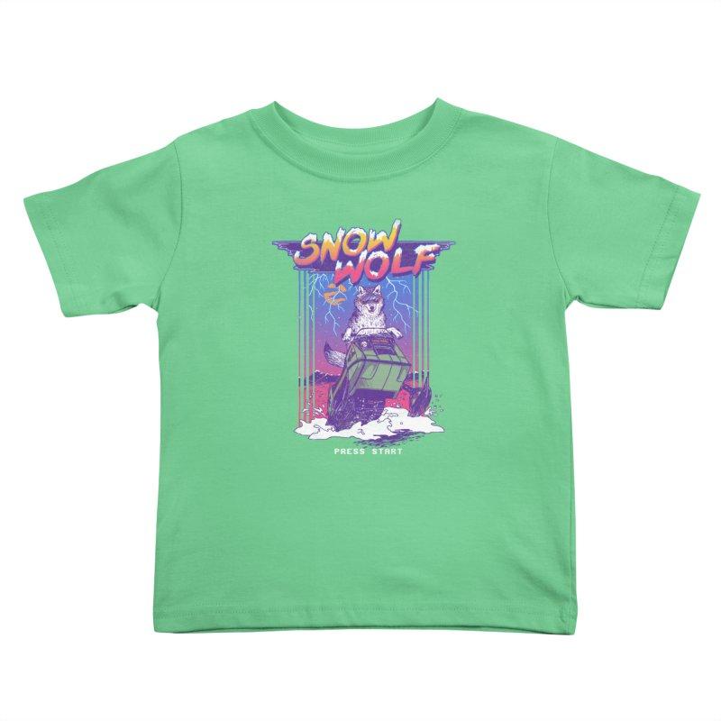 Snow Wolf Kids Toddler T-Shirt by hillarywhiterabbit's Artist Shop