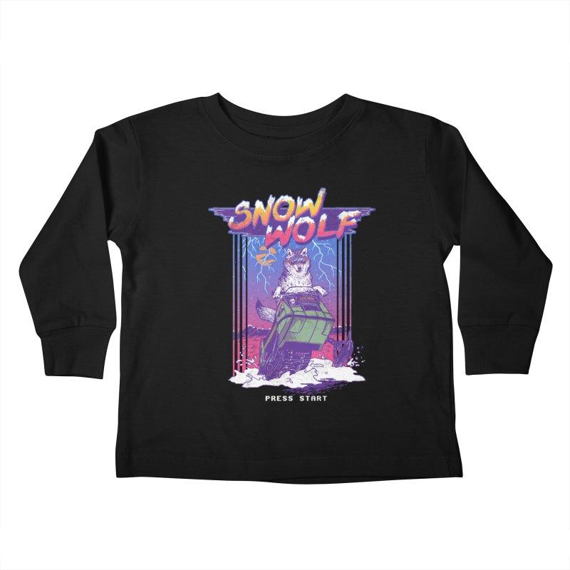 Snow Wolf Kids Toddler Longsleeve T-Shirt by hillarywhiterabbit's Artist Shop