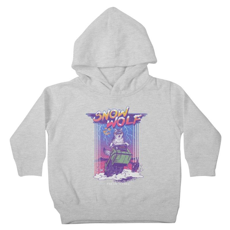 Snow Wolf Kids Toddler Pullover Hoody by hillarywhiterabbit's Artist Shop