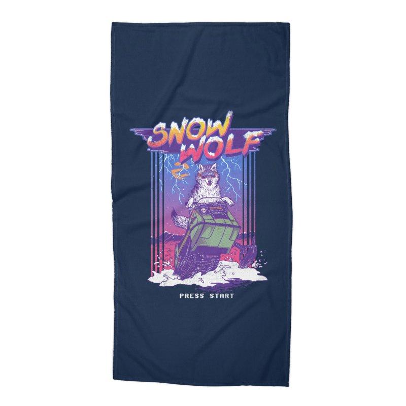 Snow Wolf Accessories Beach Towel by hillarywhiterabbit's Artist Shop