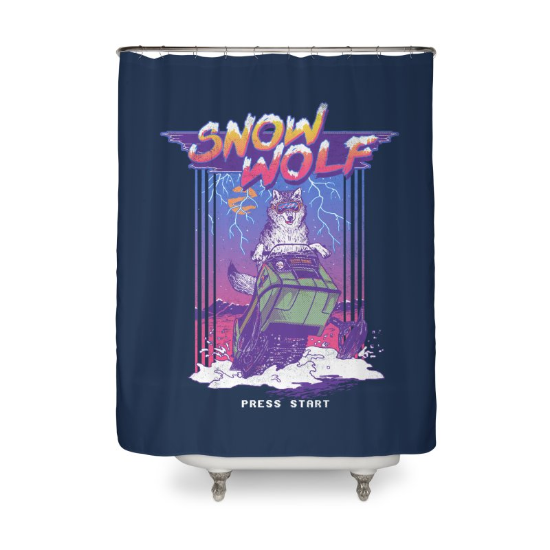 Snow Wolf Home Shower Curtain by hillarywhiterabbit's Artist Shop