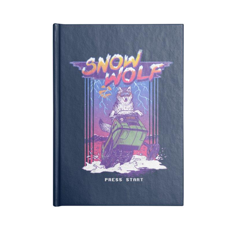 Snow Wolf Accessories Notebook by hillarywhiterabbit's Artist Shop