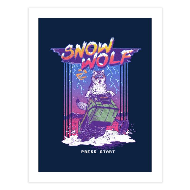 Snow Wolf Home Fine Art Print by hillarywhiterabbit's Artist Shop