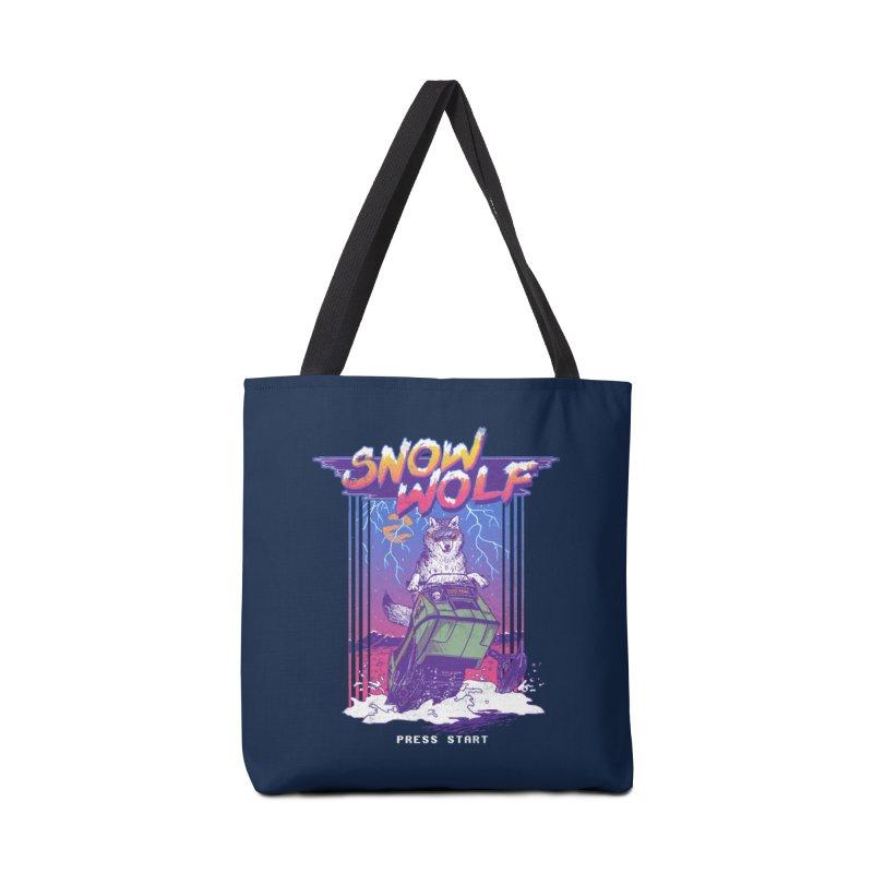 Snow Wolf Accessories Bag by hillarywhiterabbit's Artist Shop