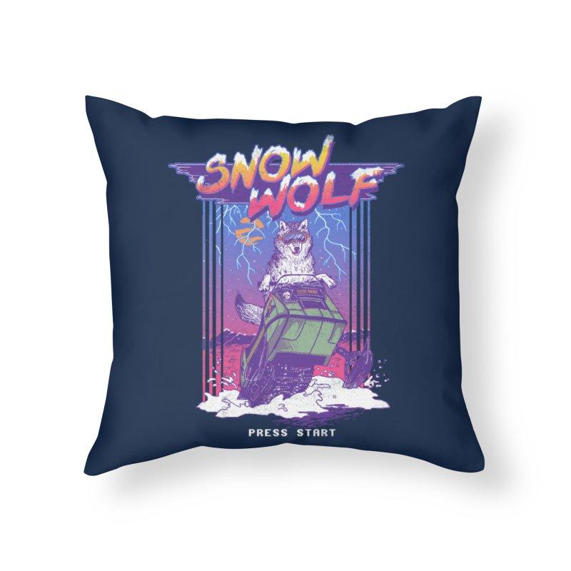 Snow Wolf Home Throw Pillow by hillarywhiterabbit's Artist Shop