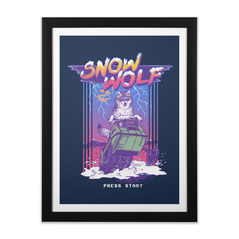Snow Wolf Home Framed Fine Art Print by hillarywhiterabbit's Artist Shop
