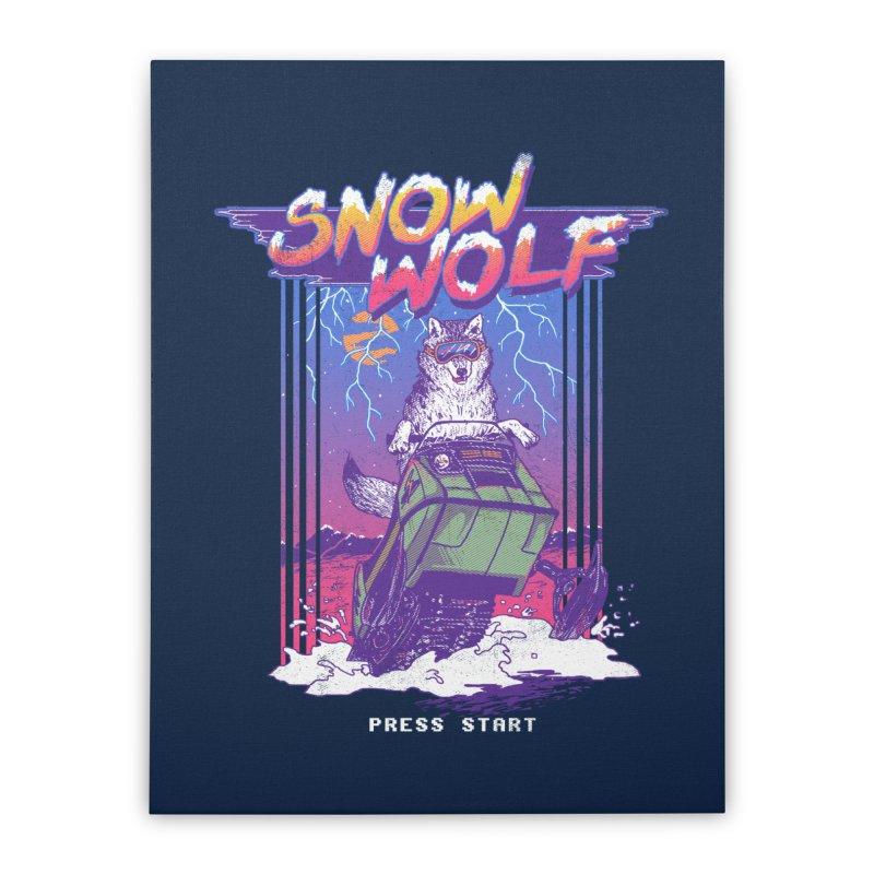 Snow Wolf Home Stretched Canvas by hillarywhiterabbit's Artist Shop