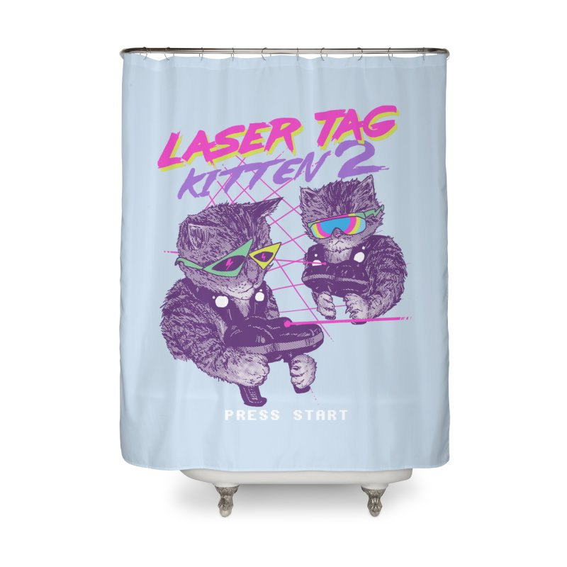Laser Tag Kitten 2 Home Shower Curtain by hillarywhiterabbit's Artist Shop