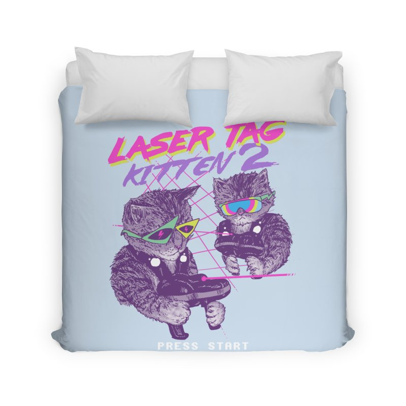 Laser Tag Kitten 2 Home Duvet by hillarywhiterabbit's Artist Shop