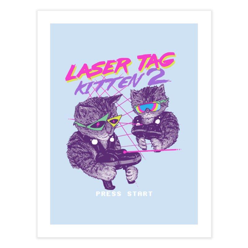 Laser Tag Kitten 2 Home Fine Art Print by hillarywhiterabbit's Artist Shop