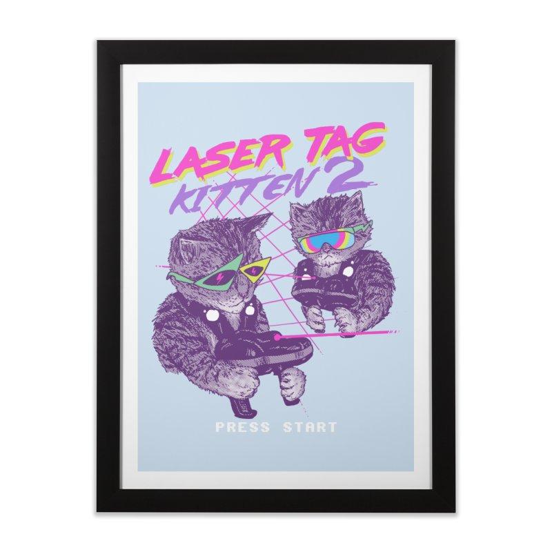 Laser Tag Kitten 2 Home Framed Fine Art Print by hillarywhiterabbit's Artist Shop