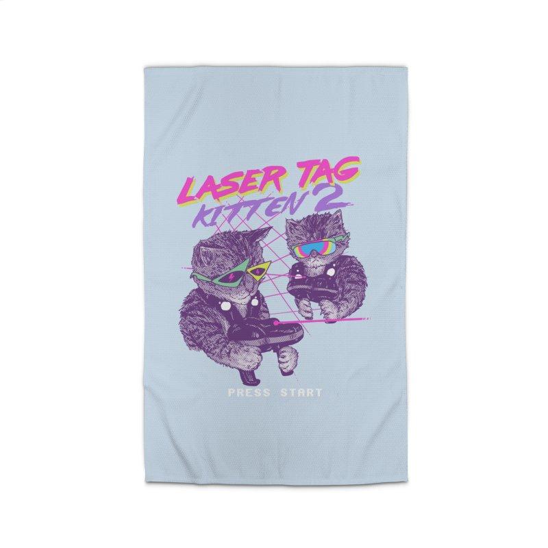 Laser Tag Kitten 2 Home Rug by hillarywhiterabbit's Artist Shop