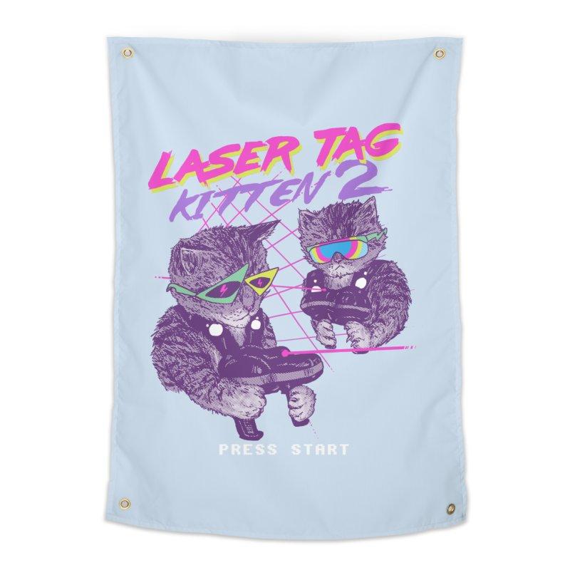 Laser Tag Kitten 2 Home Tapestry by hillarywhiterabbit's Artist Shop