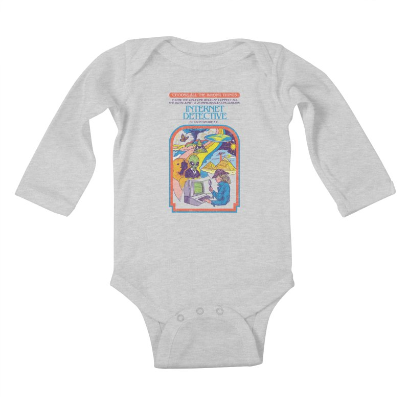 Internet Detective Kids Baby Longsleeve Bodysuit by hillarywhiterabbit's Artist Shop