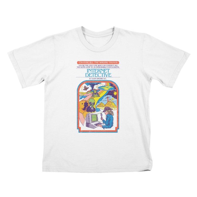 Internet Detective Kids T-Shirt by hillarywhiterabbit's Artist Shop