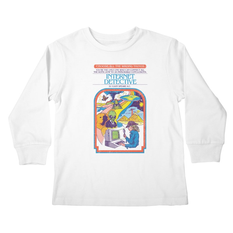 Internet Detective Kids Longsleeve T-Shirt by hillarywhiterabbit's Artist Shop