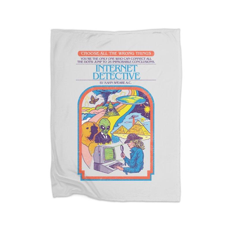 Internet Detective Home Blanket by hillarywhiterabbit's Artist Shop