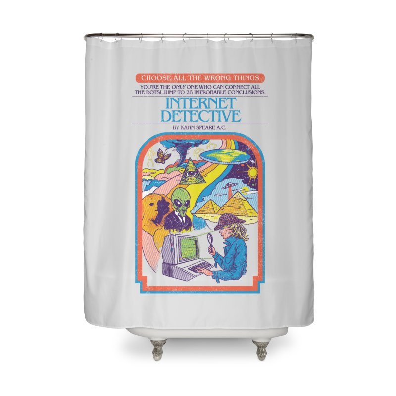 Internet Detective Home Shower Curtain by hillarywhiterabbit's Artist Shop