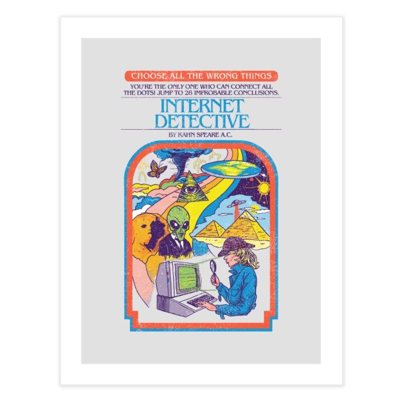 Internet Detective Home Fine Art Print by hillarywhiterabbit's Artist Shop