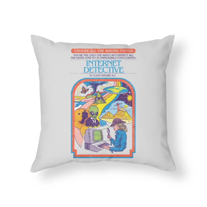 Internet Detective Home Throw Pillow by hillarywhiterabbit's Artist Shop