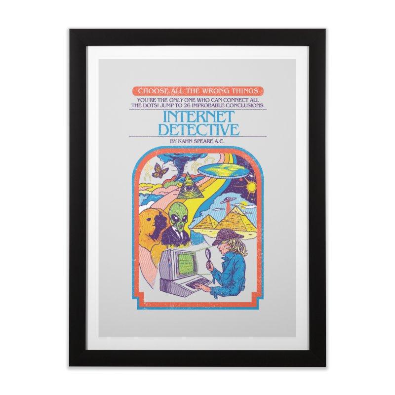 Internet Detective Home Framed Fine Art Print by hillarywhiterabbit's Artist Shop