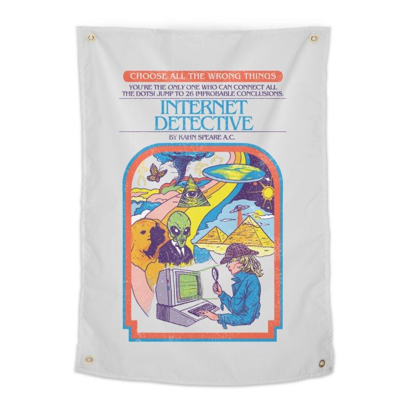 Internet Detective Home Tapestry by hillarywhiterabbit's Artist Shop