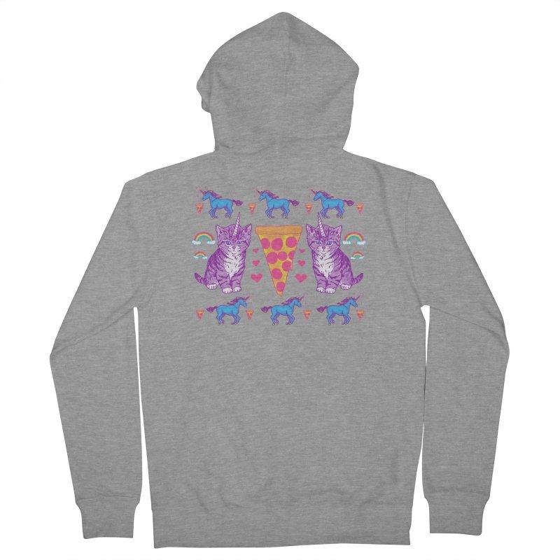 Kittycorn Pizza Rainbows Men's Zip-Up Hoody by hillarywhiterabbit's Artist Shop