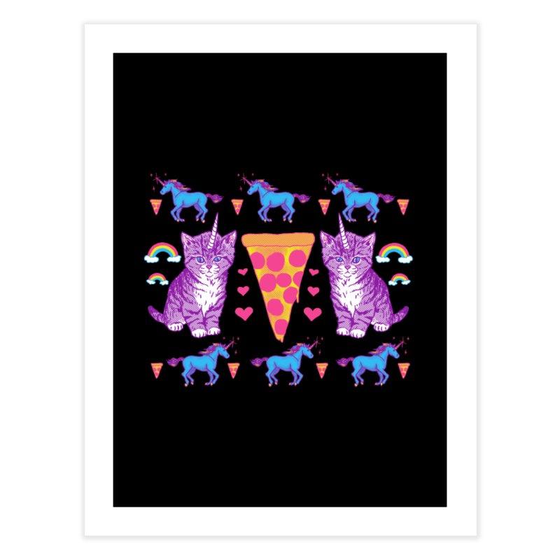 Kittycorn Pizza Rainbows Home Fine Art Print by hillarywhiterabbit's Artist Shop