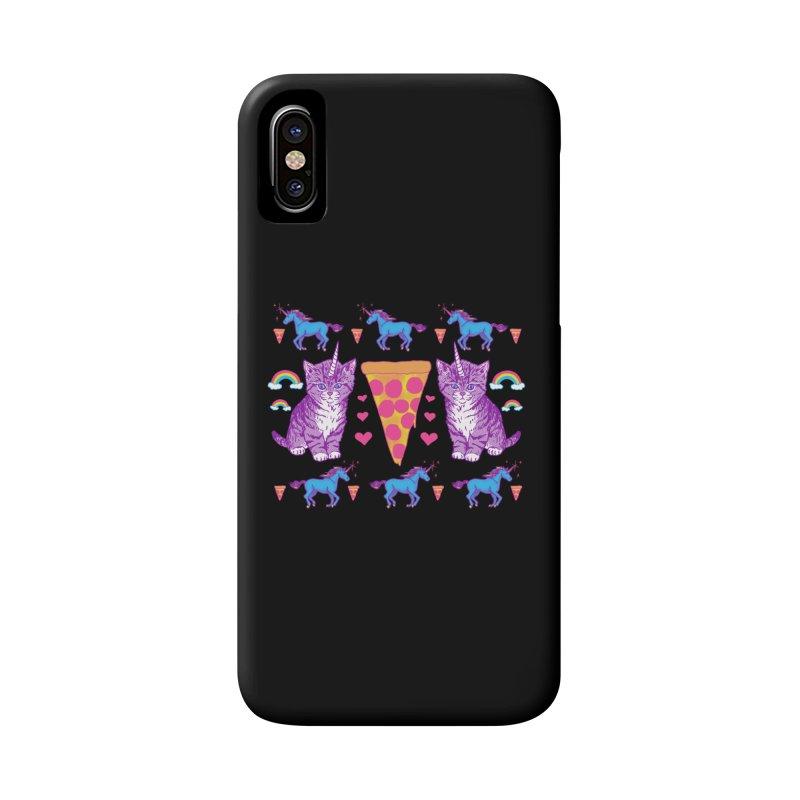 Kittycorn Pizza Rainbows Accessories Phone Case by hillarywhiterabbit's Artist Shop