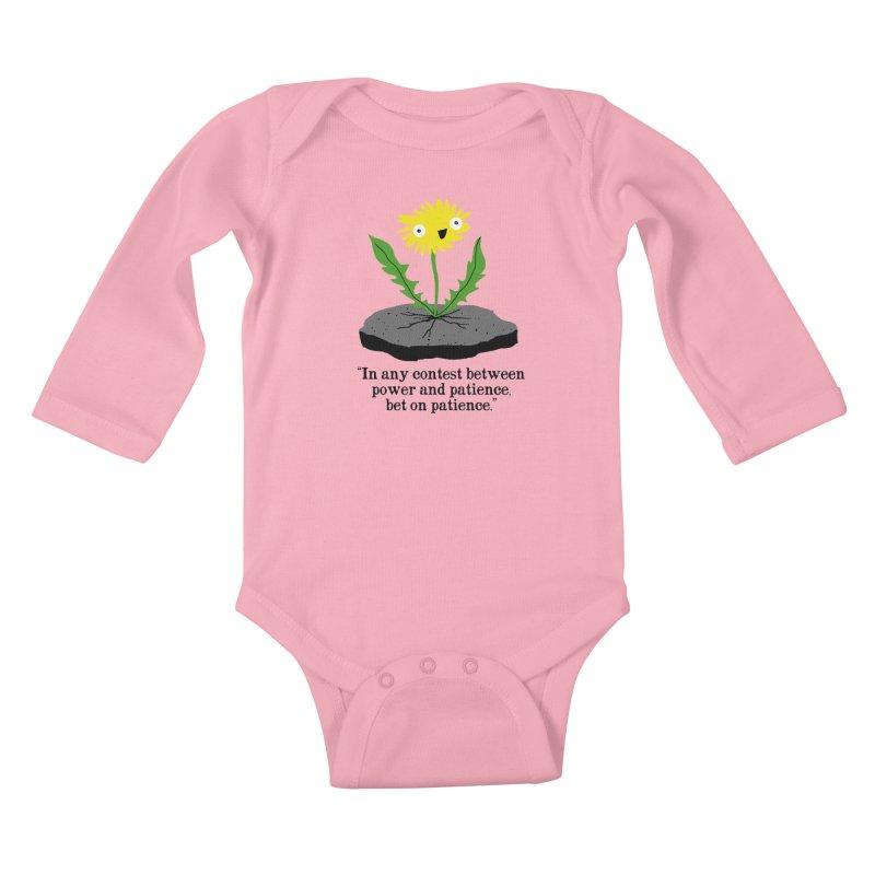 Can't Keep Me Down Kids Baby Longsleeve Bodysuit by hillarywhiterabbit's Artist Shop