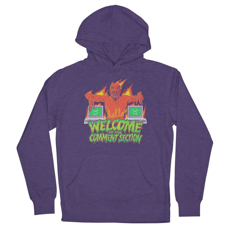 Welcome To The Comment Section Men's Pullover Hoody by hillarywhiterabbit's Artist Shop