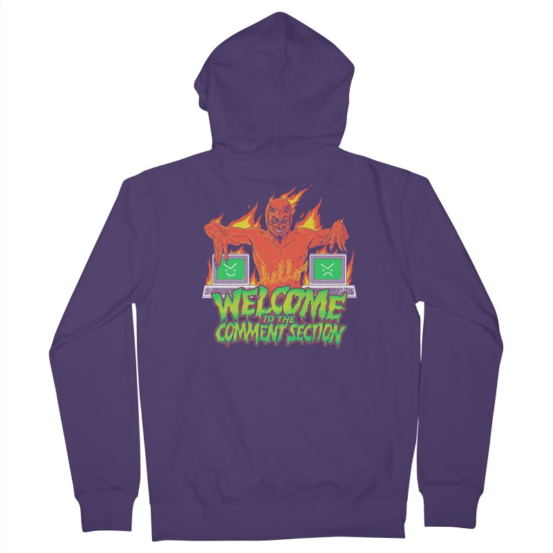 Welcome To The Comment Section Women's Zip-Up Hoody by hillarywhiterabbit's Artist Shop