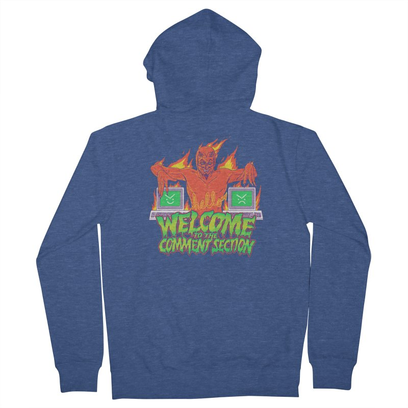 Welcome To The Comment Section Men's Zip-Up Hoody by hillarywhiterabbit's Artist Shop