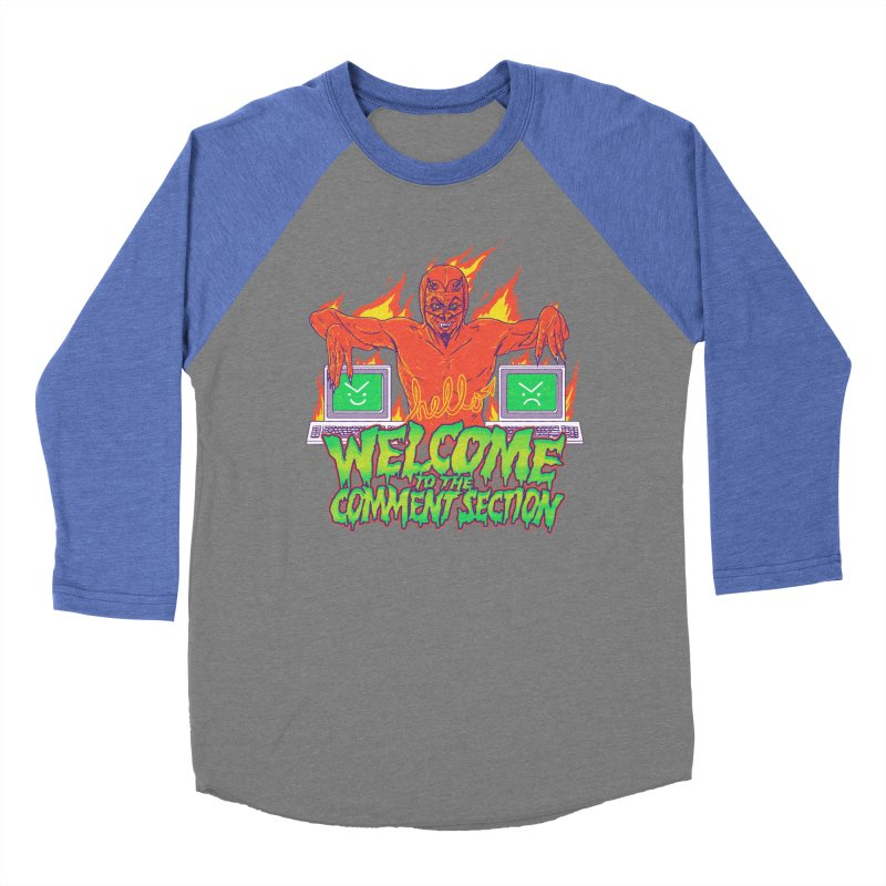 Welcome To The Comment Section Women's Baseball Triblend T-Shirt by hillarywhiterabbit's Artist Shop
