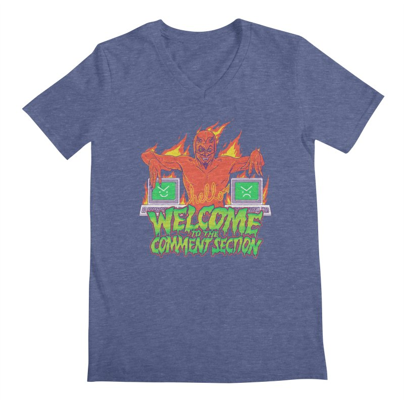 Welcome To The Comment Section Men's V-Neck by hillarywhiterabbit's Artist Shop