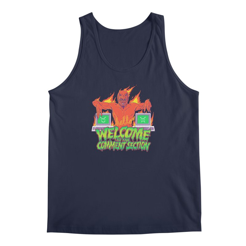 Welcome To The Comment Section Men's Tank by hillarywhiterabbit's Artist Shop