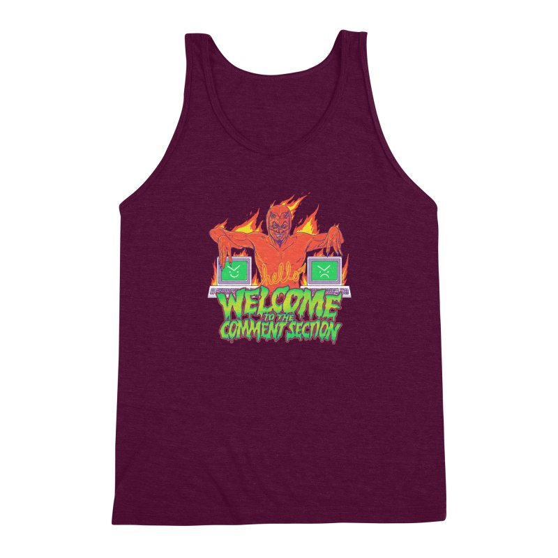 Welcome To The Comment Section Men's Triblend Tank by hillarywhiterabbit's Artist Shop
