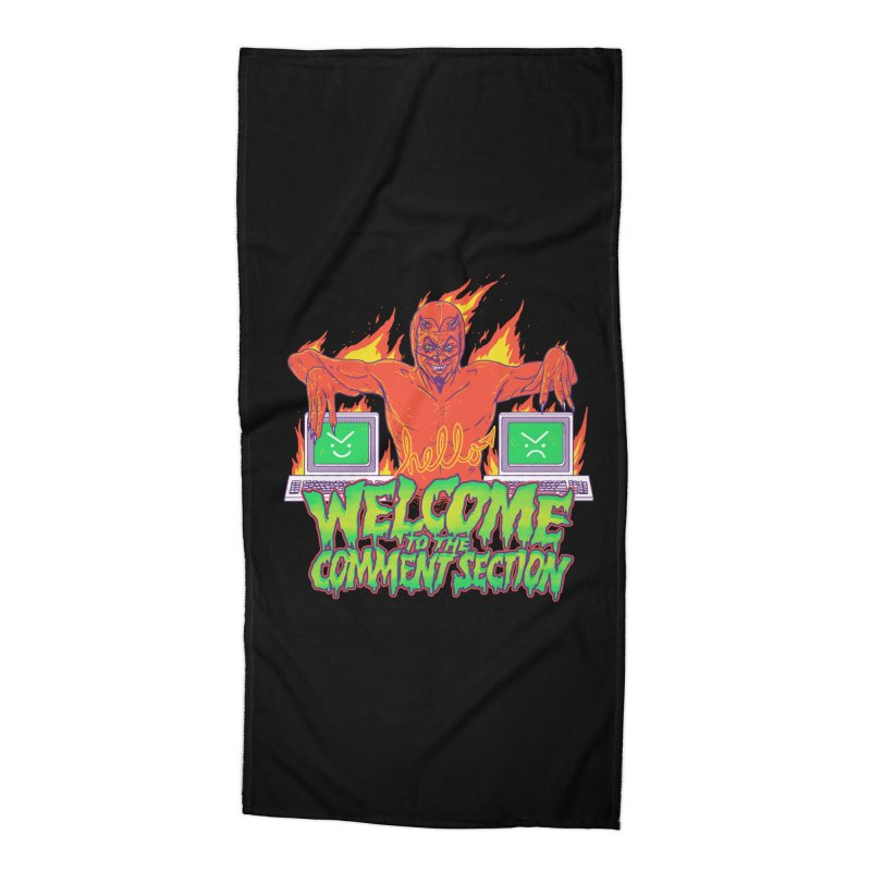 Welcome To The Comment Section Accessories Beach Towel by hillarywhiterabbit's Artist Shop