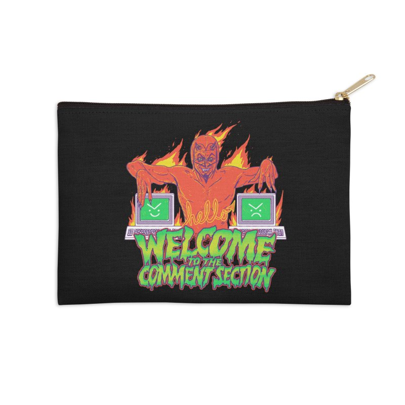 Welcome To The Comment Section Accessories Zip Pouch by hillarywhiterabbit's Artist Shop