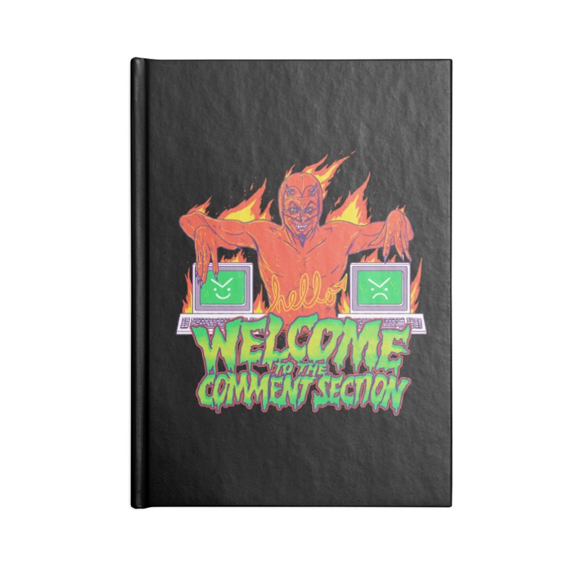 Welcome To The Comment Section Accessories Notebook by hillarywhiterabbit's Artist Shop