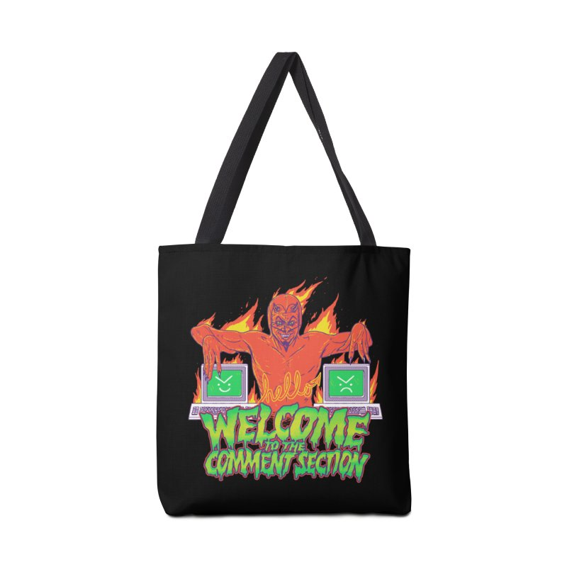 Welcome To The Comment Section Accessories Bag by hillarywhiterabbit's Artist Shop