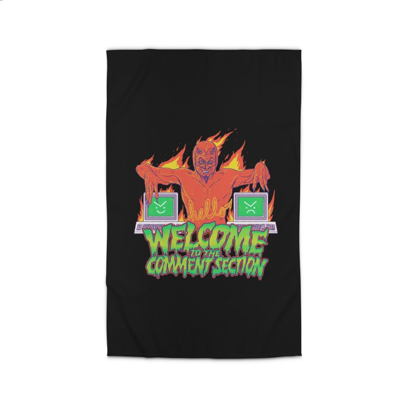 Welcome To The Comment Section Home Rug by hillarywhiterabbit's Artist Shop