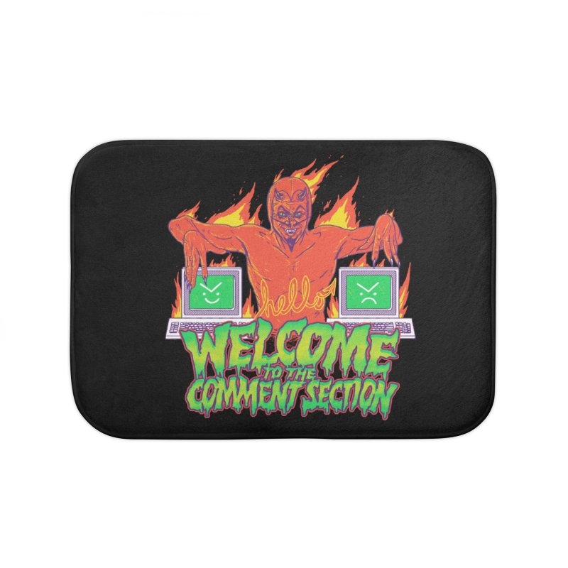 Welcome To The Comment Section Home Bath Mat by hillarywhiterabbit's Artist Shop