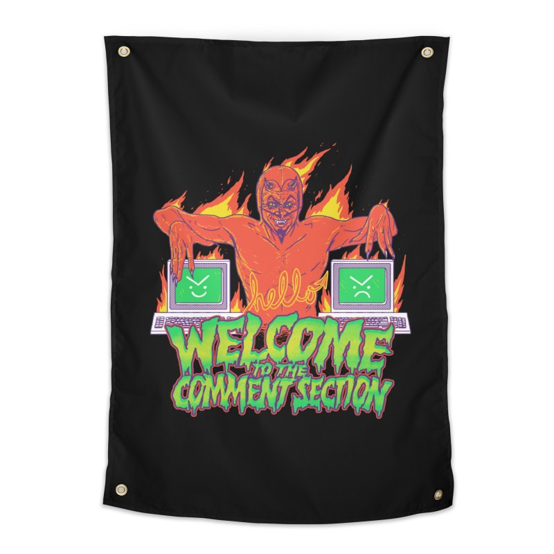 Welcome To The Comment Section Home Tapestry by hillarywhiterabbit's Artist Shop