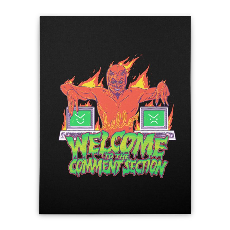 Welcome To The Comment Section Home Stretched Canvas by hillarywhiterabbit's Artist Shop