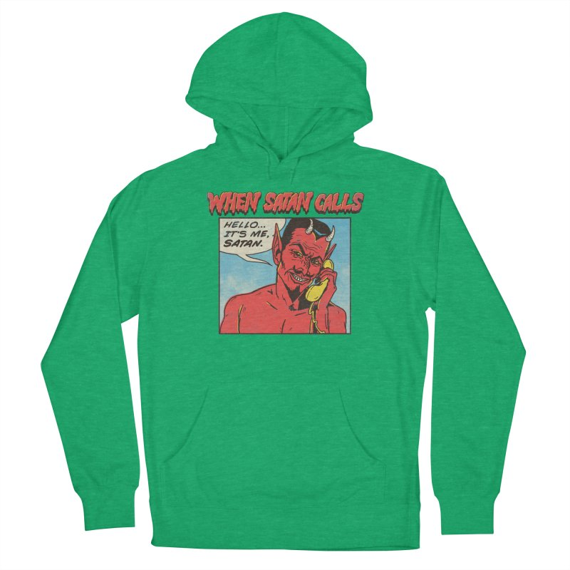 When Satan Calls Men's Pullover Hoody by hillarywhiterabbit's Artist Shop
