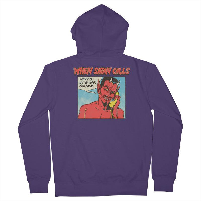 When Satan Calls Women's Zip-Up Hoody by hillarywhiterabbit's Artist Shop