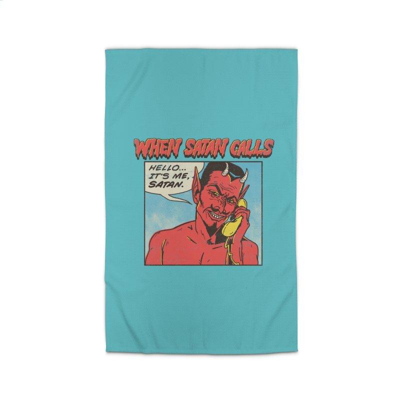 When Satan Calls Home Rug by hillarywhiterabbit's Artist Shop