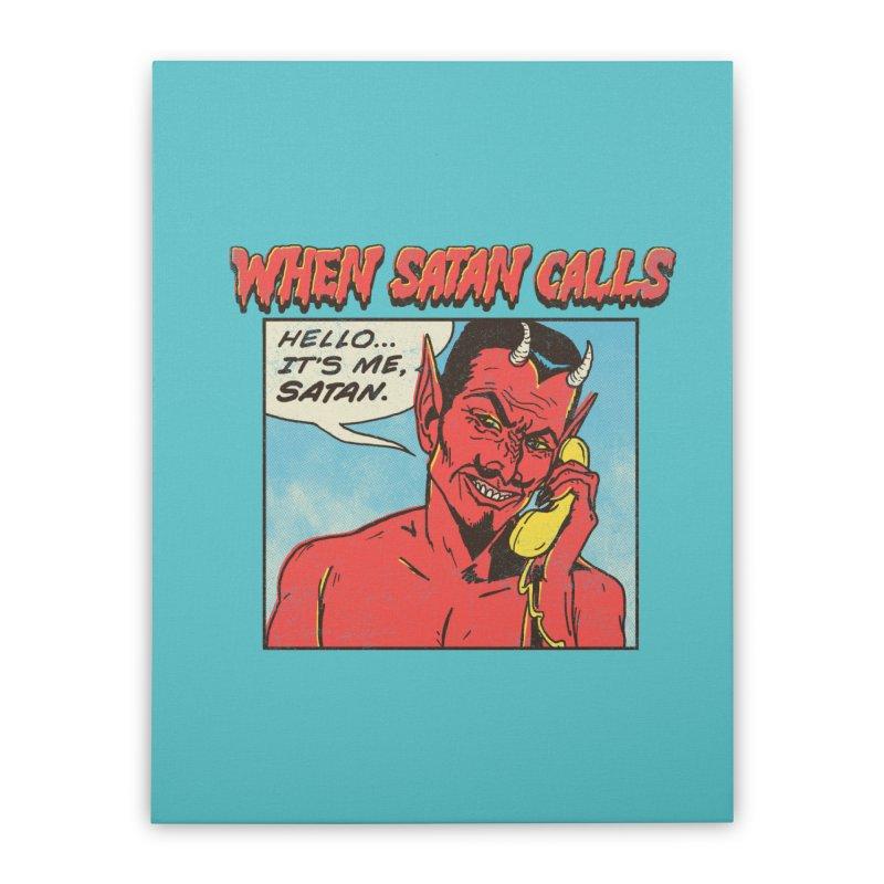 When Satan Calls Home Stretched Canvas by hillarywhiterabbit's Artist Shop