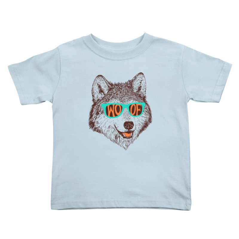 Woof Kids Toddler T-Shirt by Hillary White